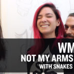 WMC Fest No Arms Screenprinting Challenge with Snakes and Aceys