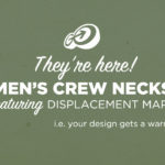 Men's Crew Neck PSD Mockups featuring Displacement Maps