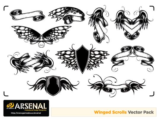 Winged Scrolls