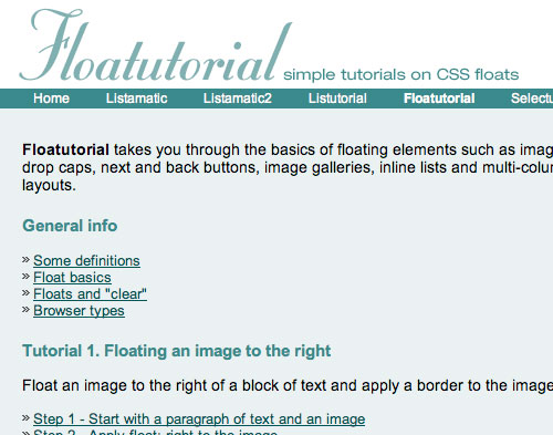 Floatutorial