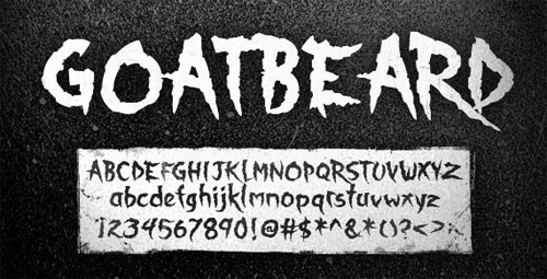 Goatbeard font