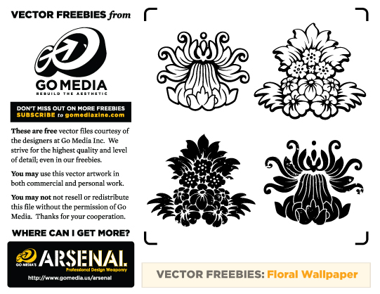 free floral wallpaper vector