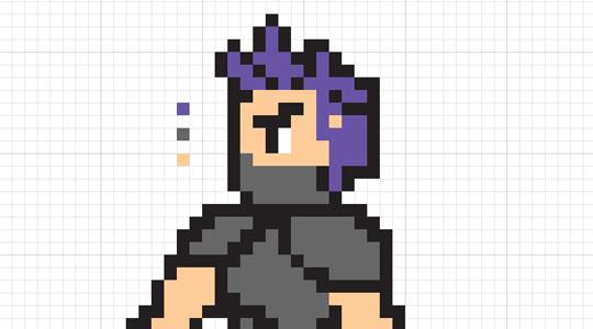 creating an 8-bit Nintendo character