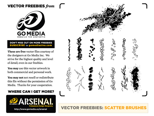 free vector scatter brushes