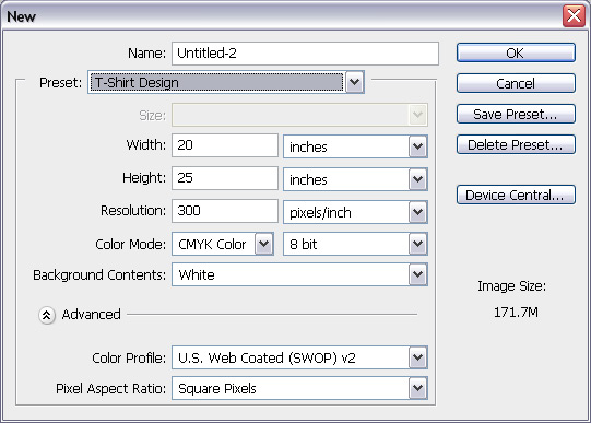 initial settings