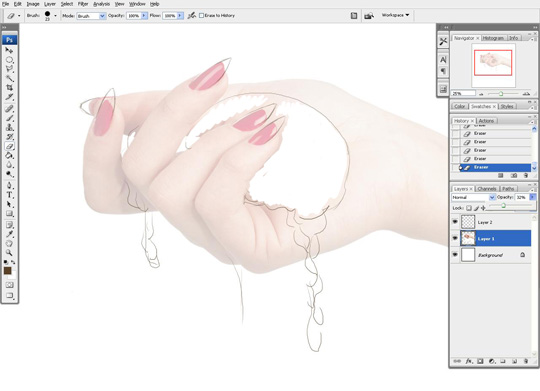 how to draw a hand 2