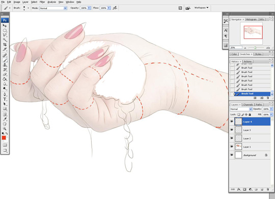 how to draw a hand 5