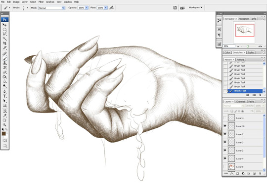 how to draw a hand 8
