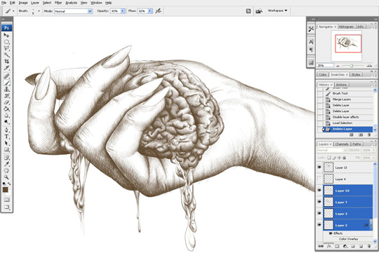 how to draw a hand 9