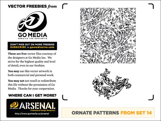 ornate flourish vector patterns