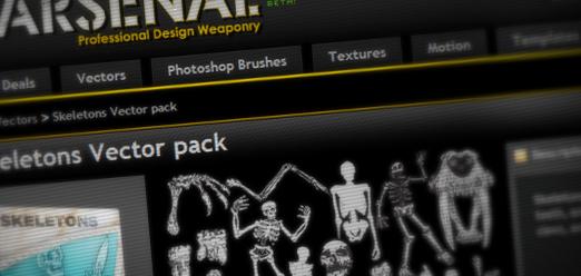 vector freebie vector pack skeletons