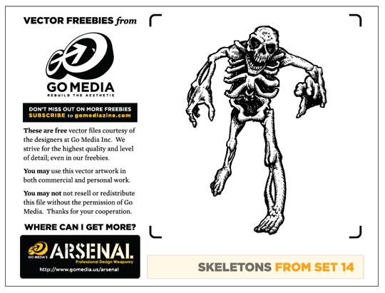 vector freebie, free vector art, skeletons