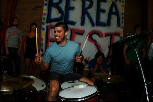 Dave Garwacke on drums