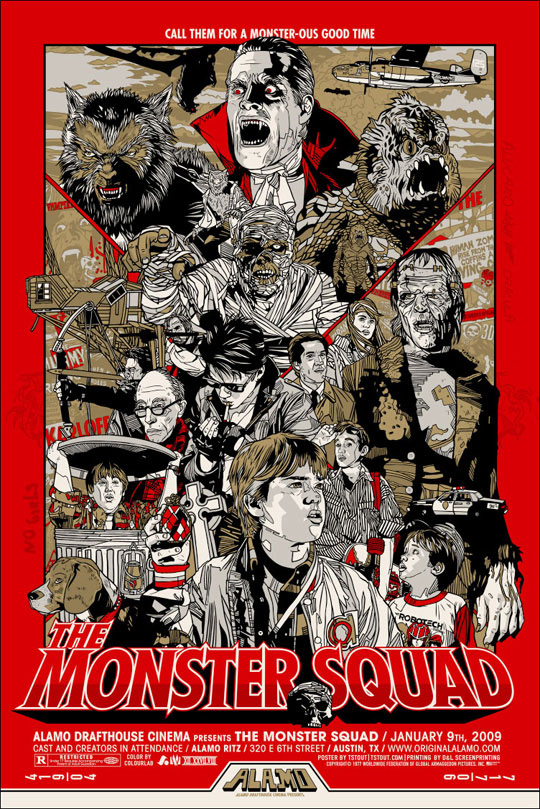 Monster Squad poster by Tyler Stout