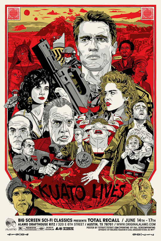 Total Recall poster by Tyler Stout