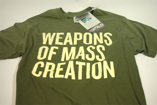 Win a Weapons of Mass Creation t-shirt