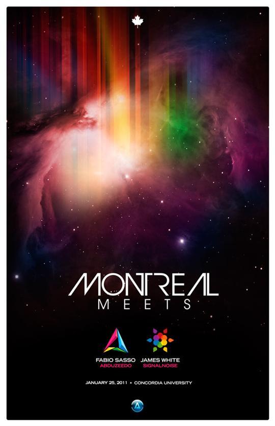Montreal Meets poster by Abduzeedo