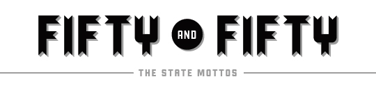 50 and 50 - The state motto project logo