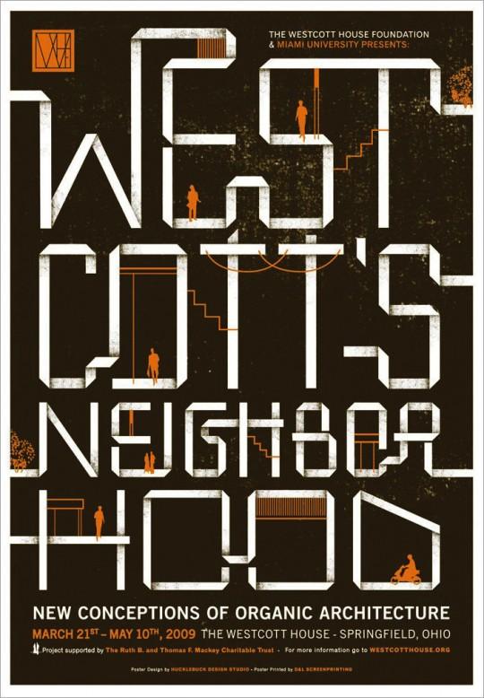 Westcott's Neighborhood event poster by Hucklebuck Design Studio