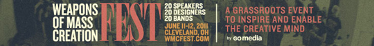 Weapons of Mass Creation Fest 2011 - Horizontal banner