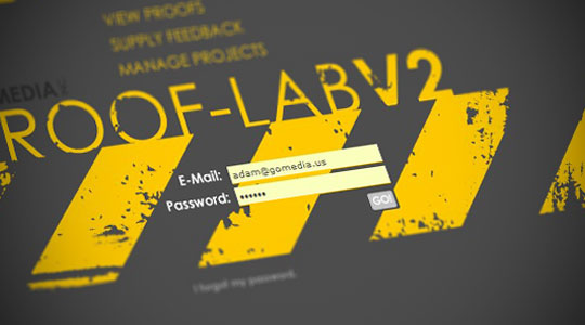 prooflab v2 login page
