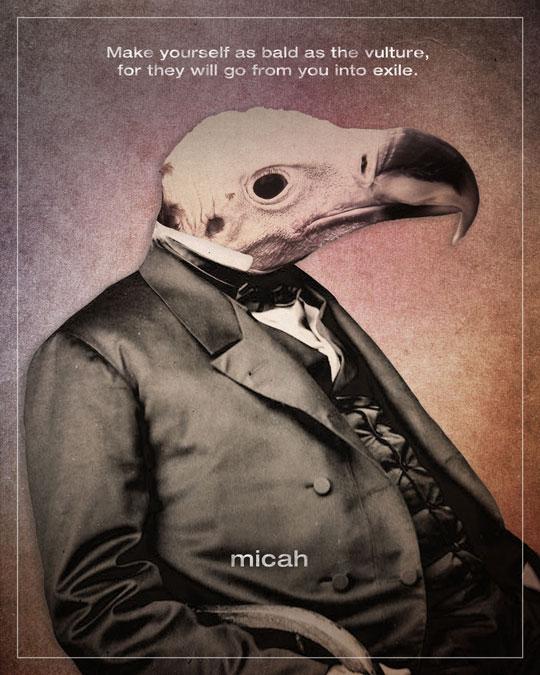 "The ""Words"" series by Jim LePage - Micah 1"