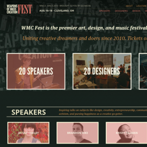 WMC Fest Responsive Website Design