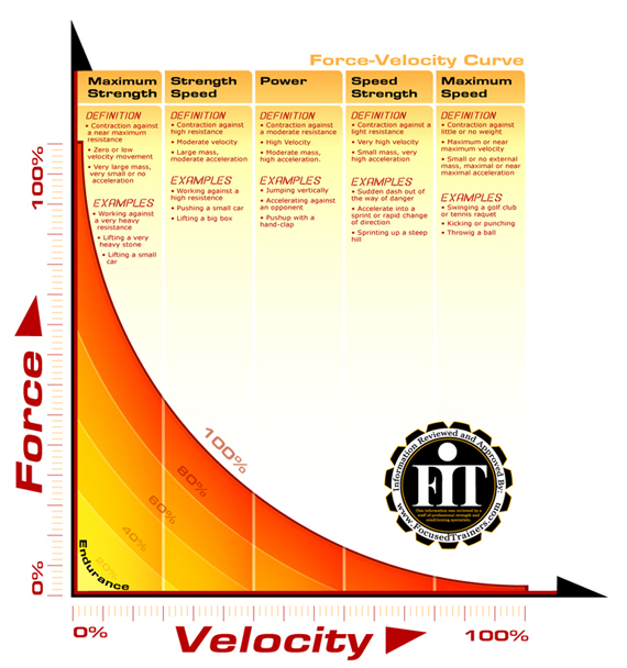 Infographics force velocity curve