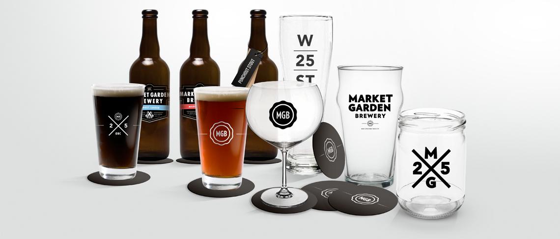 Market Garden Brewery Branding Glassware