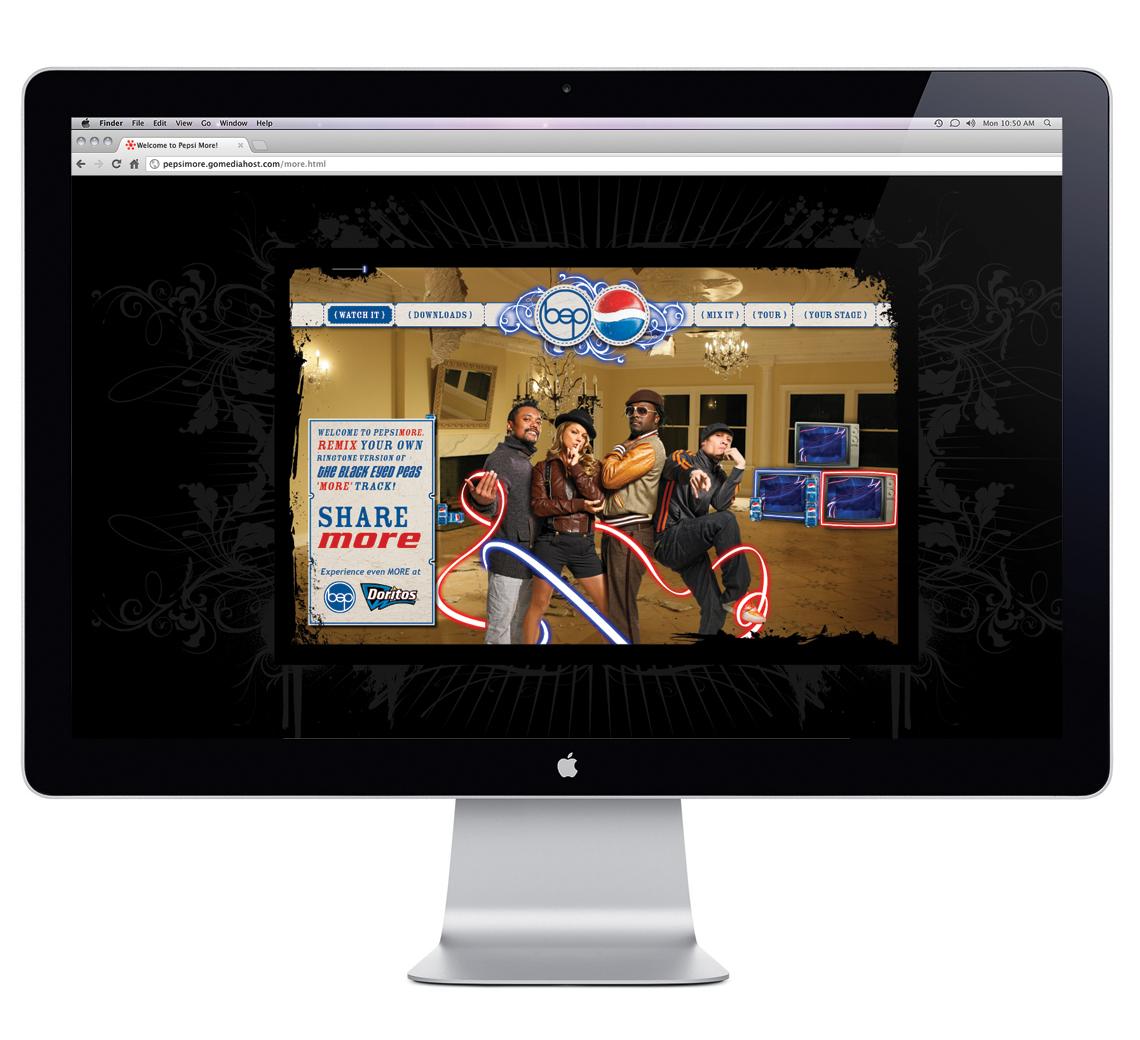 Pepsi More Web Design Homepage