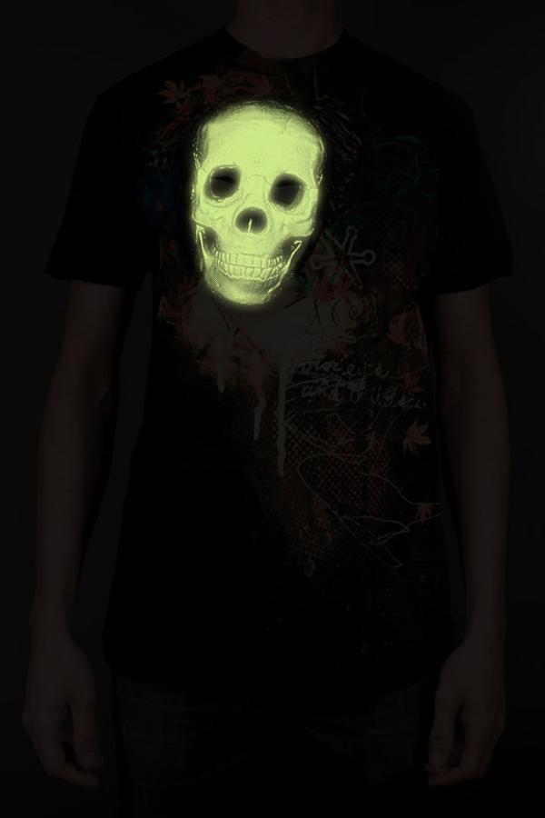 Jakprints Touch & Feel T-Shirt Design - Glow Skull