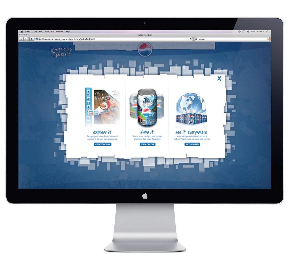 Pepsi Express More Website Design - Homepage