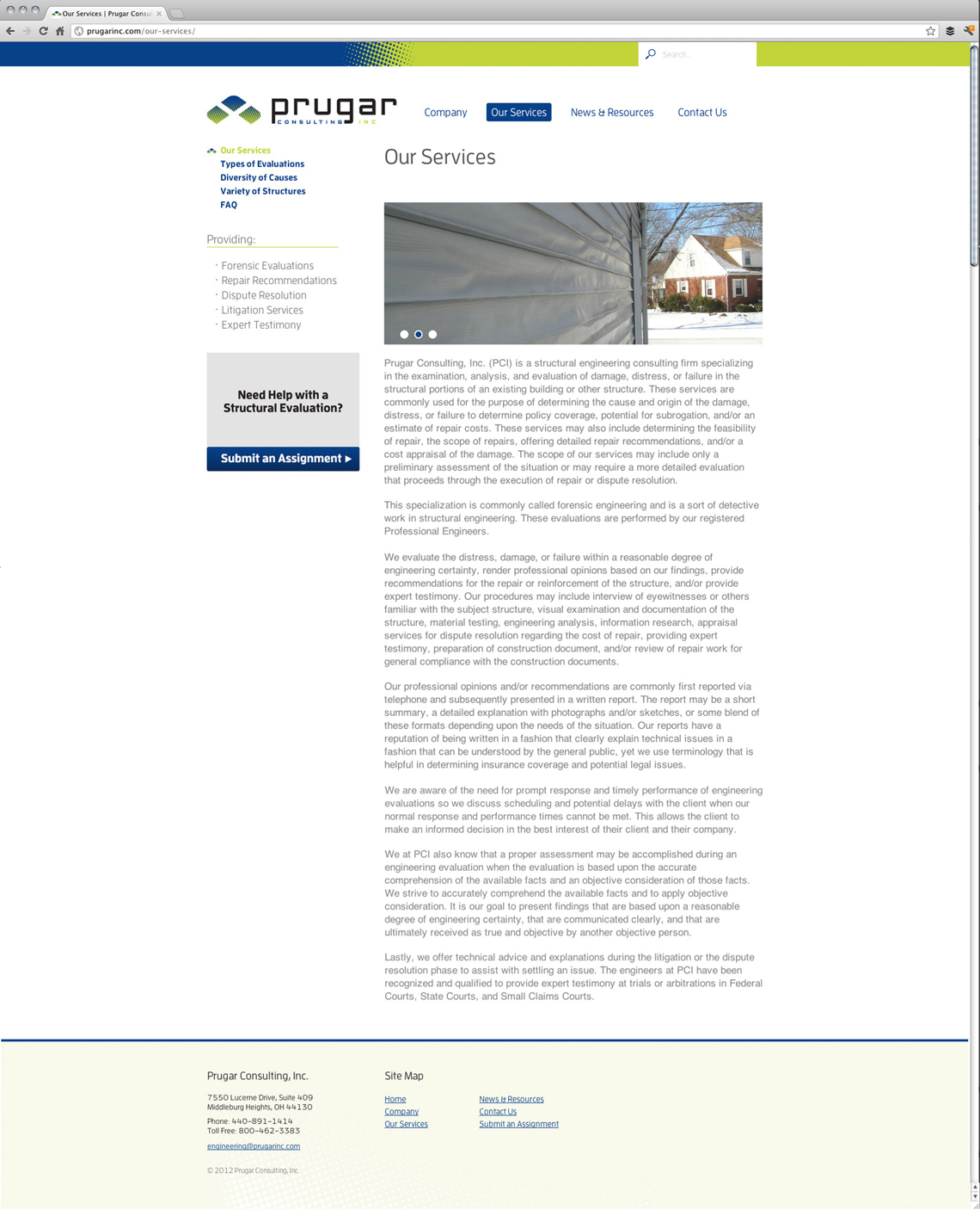 Prugar Consulting Website Design Services Page