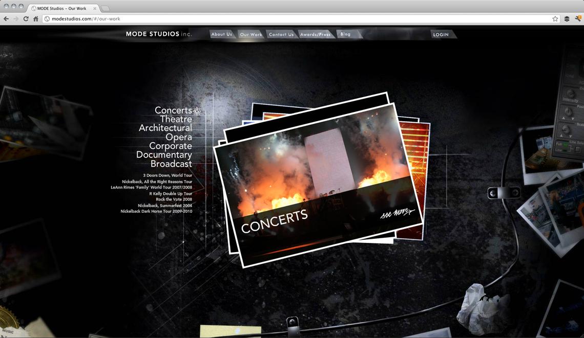 MODE Studios Website Design