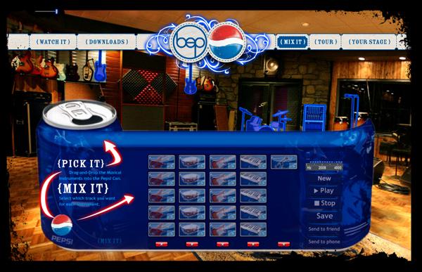 Pepsi More Website Design Interactive Page