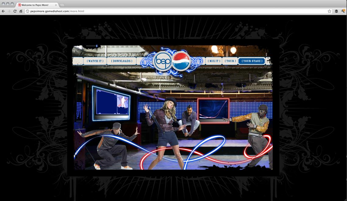 Pepsi More Website Design