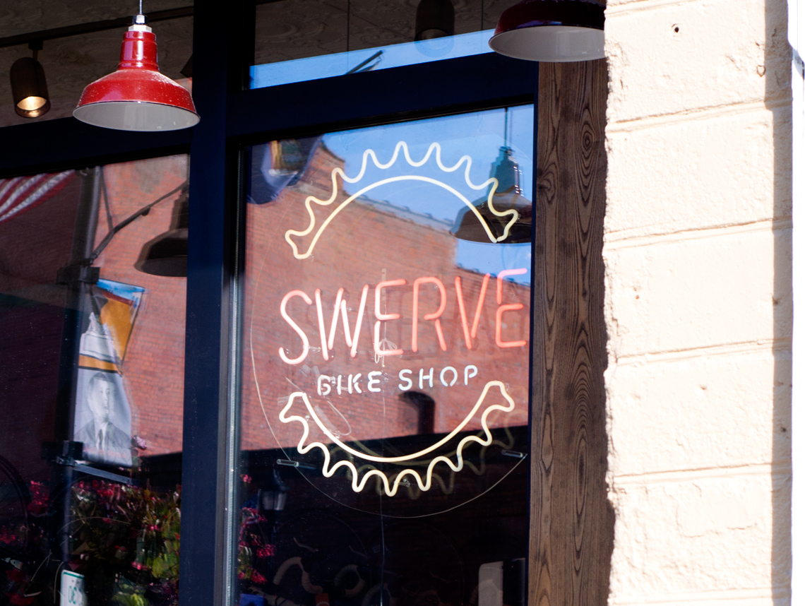 Swerve Bicycle Shop Branding Neon Sign