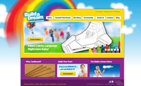 Build a Dream Playhouse Website Design Homepage