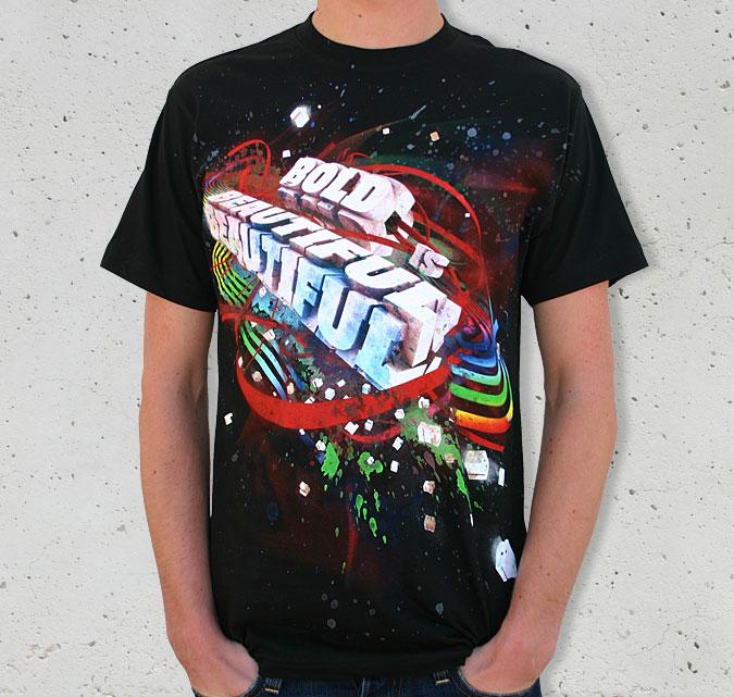 Bold Is Beautiful T-Shirt Mockup