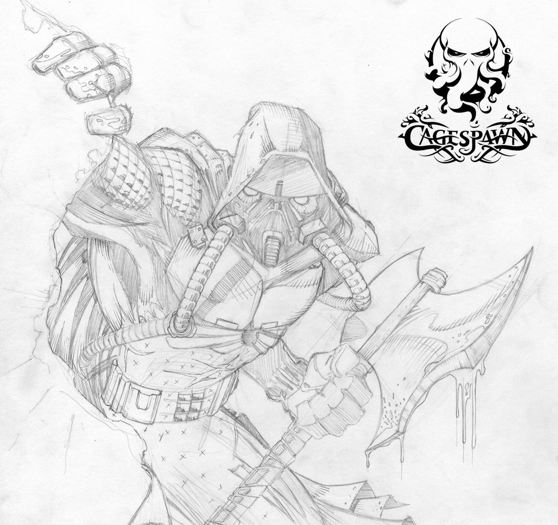 CageSpawn Logo Design and Sketch