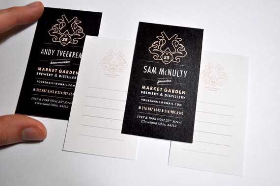 Market Garden Brewery Business Card Design
