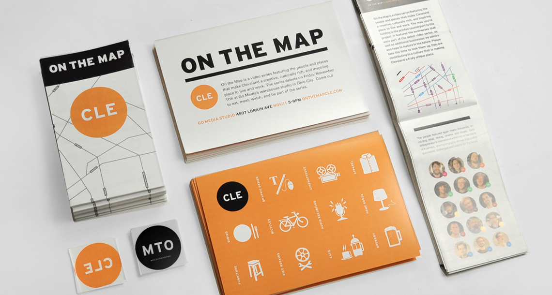 On The Map Print Design Collateral
