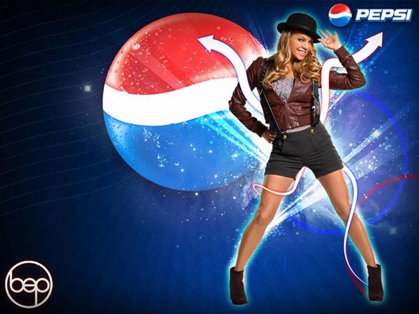 Pepsi More Website Design with Fergie from the Black Eyed Peas