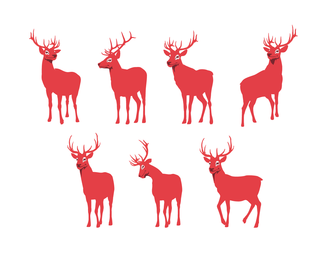 Red Stag Mascot Design