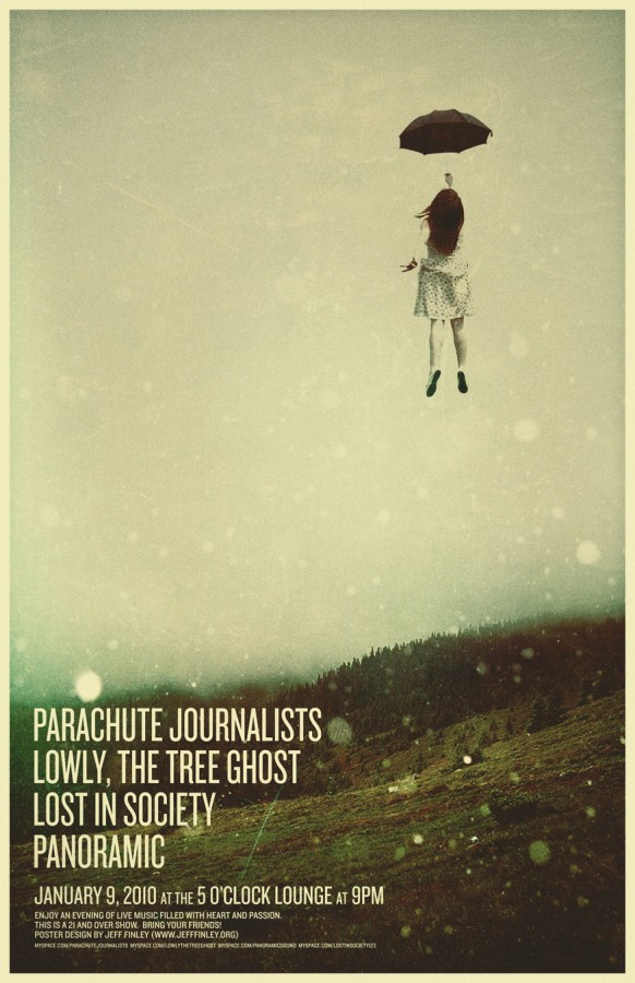 parachute journalists poster by jeff finley