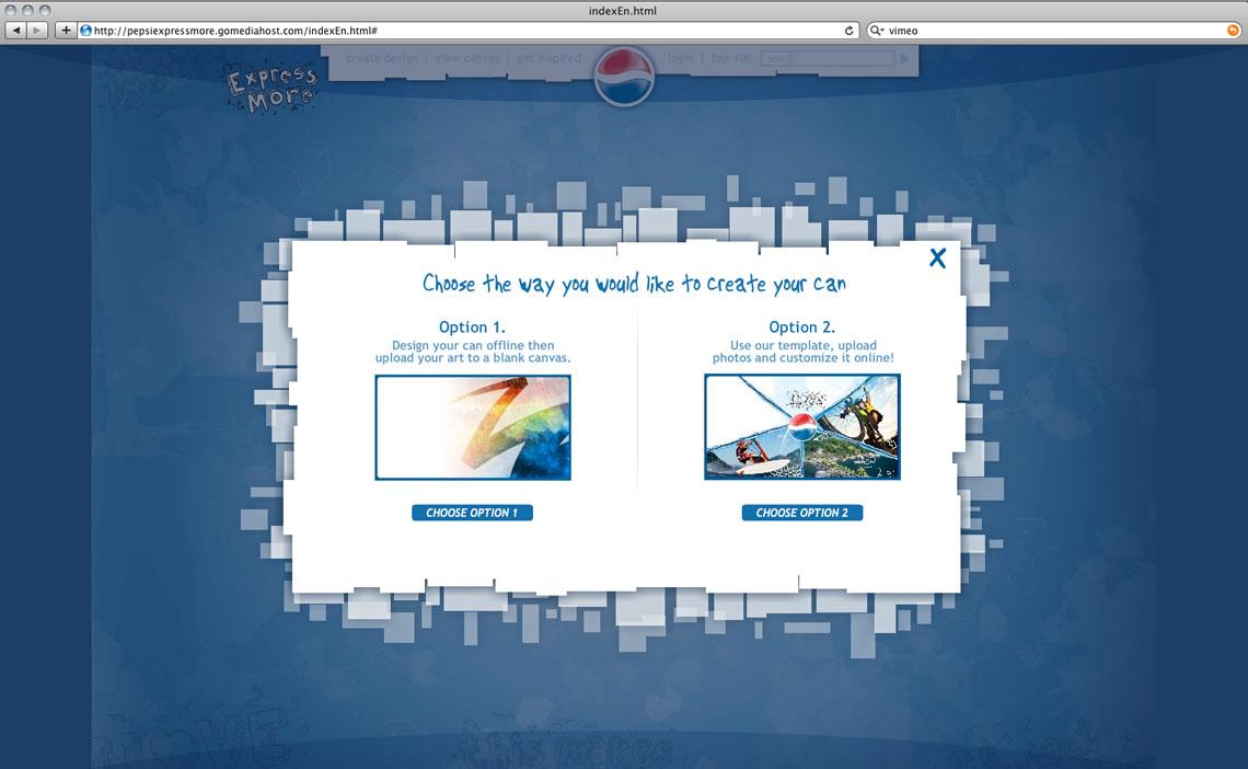 Pepsi Express More Website Design