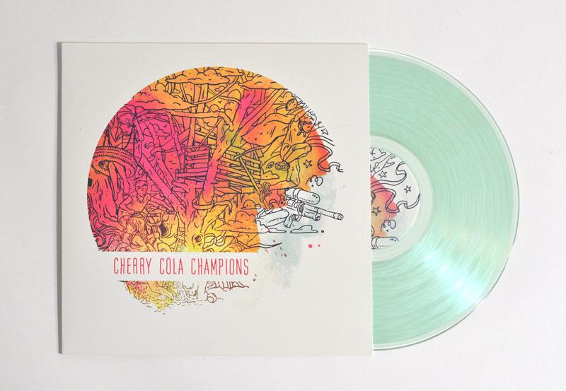 Cherry Cola Champions album artwork by Go Media