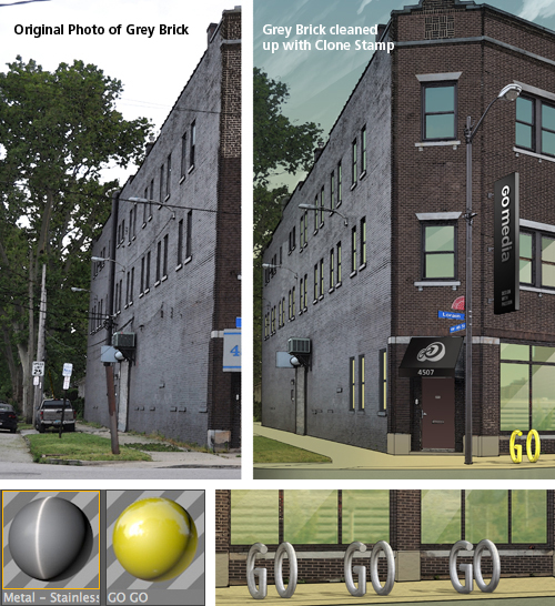 Creating an Architectural Illustration Using Reference Photography - Step 23