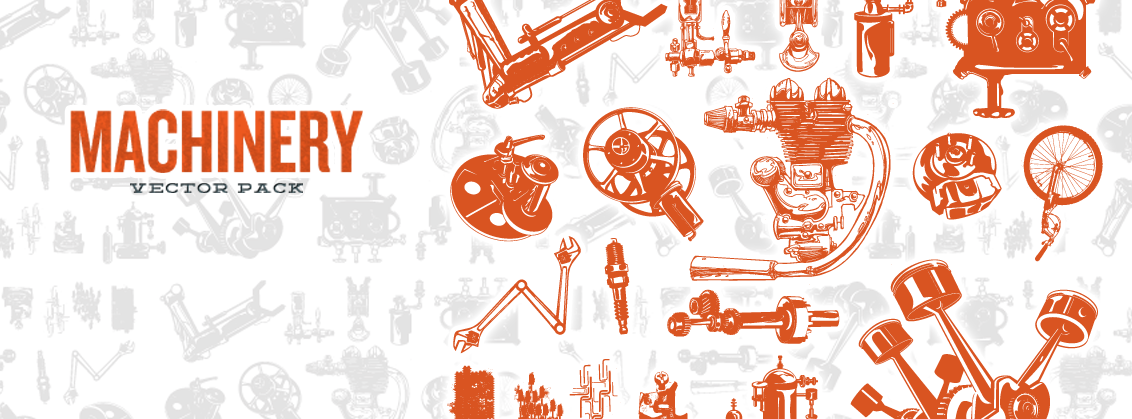 Machinery Vector Pack Banner