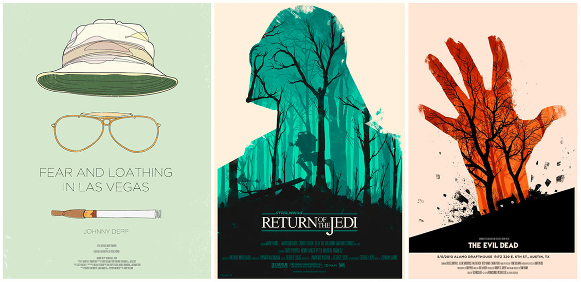 a showcase of creatively redesigned movie posters go media